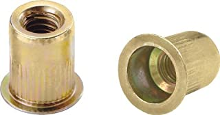 Pack of 10 SKS375-24-312 Steel Thin-NUT Small Flange Gold ZINC Finish 3//8-24 x .150-.312 Grip Range