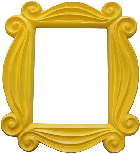 Friends Peephole Frame from Monica's Apartment, Door Picture Frame, Present for your best Friends (yellow)