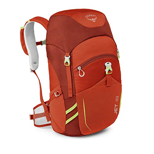 Osprey Packs Jet 18 Kid's Backpack, Strawberry Red, One Size