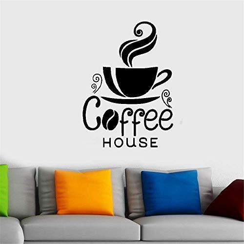 wandaufkleber 3d Wandtattoo Kinderzimmer Eine Tasse dampfende Kaffee-Wohnkultur-Tafel für Kaffeehaus