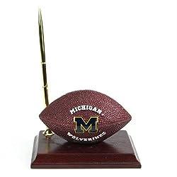 Michigan Wolverines Mascot Football Clock/Pen