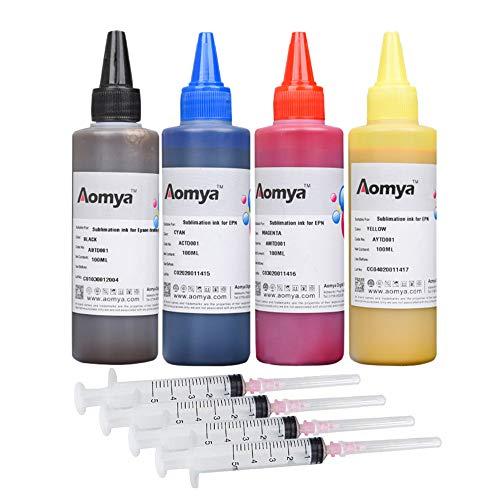 Aomya Kit de recarga de tinta de sublimación para impresoras de inyección de tinta C88 C88+ CX3810 CX4200 WF7610 WF7010 WF7710 WF3640...