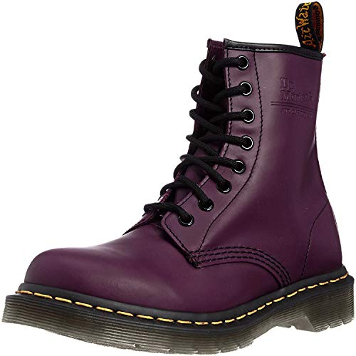 Dr. Marten's Women's 1460 8-Eye Patent Leather Boots, Purple Smooth, 6.5 F(M) UK / 8.5 B(M) US