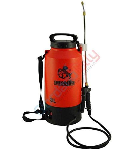 AUSONIA - 38001 BOMBA ELÉCTRICA DE MOCHILA DE 8 LITROS Batería de 12V 10AH. Duración de la carga de aproximadamente 2 horas. Peso de 2,6 kg