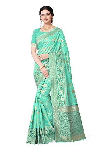 YIPSY FASHION Women's Banarasi Cotton Silk Saree With Blouse Piece