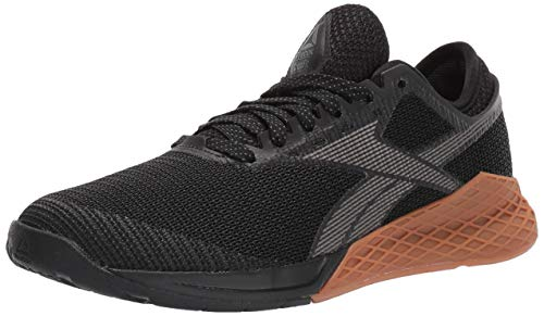 Reebok Women's Nano 9 Cross Trainer, Black/Grey, 7.5 M...