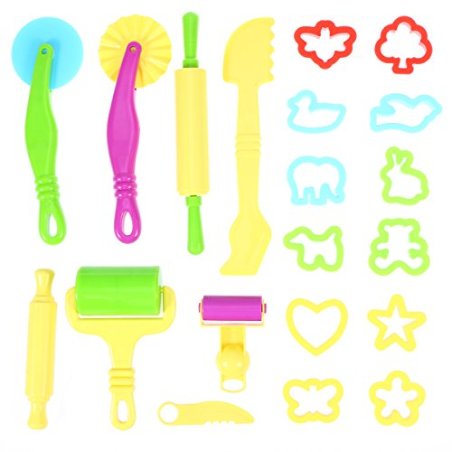 ROSENICE Modelos de arcilla masa herramientas Fimo herramienta Smart Kit regalo con moldes 20pcs (Color al azar)