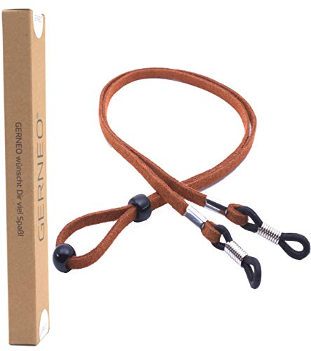 GERNEO® - DAS ORIGINAL - Premium Brillenband in hochwertiger Wildlederoptik - braun - für Lesebrille & Sonnenbrille