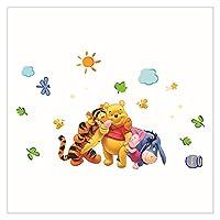 ウォールステッカー 漫画ウィニーベアタイガーツリーウォールステッカーキッズルームホーム寝室装飾デカール保育園の子供たち (Color : 2006)