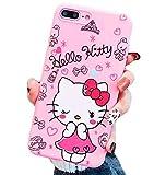 Hello Kitty Love Ya XOXO Edition Pink Soft Silicone Protector Case Gel Shockproof Phone Thin Slim Gel Cover ~ Estuche Fundas Cobertor (iPhone 6 Plus/iPhone 6S Plus)