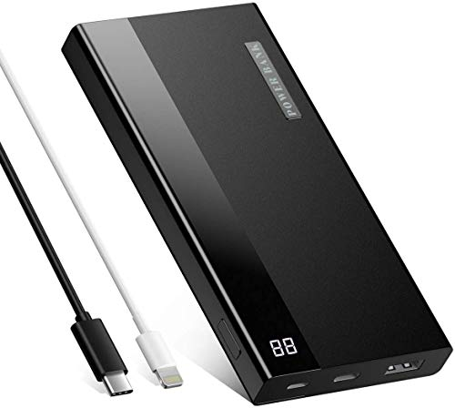 20000mAh Powerbank tragbares Externer Akku mit LED Digitalanzeige, USB-C Output, schnellladen für iPhone 12, iPhone X, Galaxy S 10, Huawei, iPad, Switch und mehr