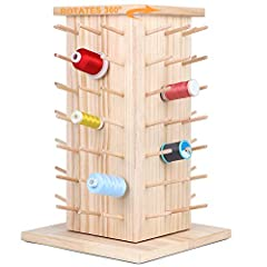 √ Make your embroidery and quilting easier: New brothread rotating wooden thread rack can rotate a full 360° smoothly without jamming. Using our rotating wooden thread rack, it nicely organizes your thread spools and makes your sewing room or sewing ...