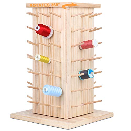 Rotating Wooden Thread Rack