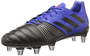 adidas Kakari SG Soft Ground Mens Rugby Union Boot Black/Blue - UK 6.5 from
