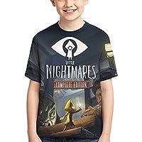 リトルナイトメア LITTLE NIGHTMARES Tシャツ 子供Tシャツ キッズ こども 半袖 無地 丸首 おもしろい 男女兼用 夏 薄手