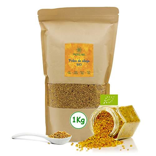 1 kg - Polen de España BIO. 100% natural. Polen de abeja ecologico libre de residuos. Polen fuente de proteinas, aminoácidos, lípidos, vitaminas y minerales.
