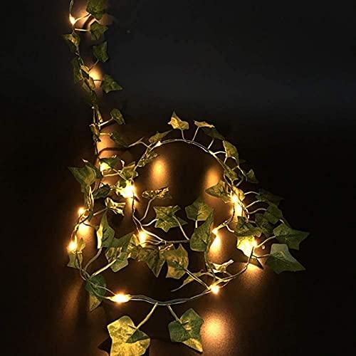 ZJDM Iluminación Colgante de Bricolaje, 2M / 20 LED Plantas Artificiales Cadena Luz Verde Hoja Hiedra Cadena Hojas de Arce Lámpara Guirnalda para Interior al Aire Libre, jardín, Gazebo (Color: E)
