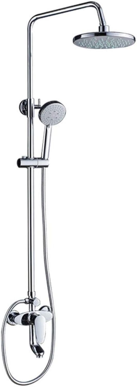 Duschset, Dusche im Bad, Kupfer, heier und kalter Regen, Anheben, 9-Zoll-Top-Dusche