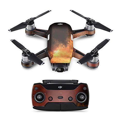 Skins4u Schutzfolie Design Aufkleber Skin kompatibel mit DJI Spark Drohne Solar Storm
