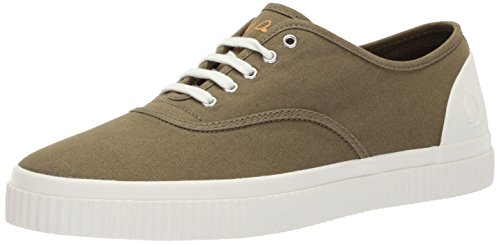Fred Perry BARSON Canvas Sneaker, British Olive, 12 D UK (13 US)