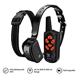 Dog Shock Collar with Remote - Waterproof Dog Training Collar for Dogs Large,Medium,Small-Corrective Collar w/ 3 Training Modes, Beep, Vibration,Shock Collar with 1~100 Shock Level 1800ft Remote Range