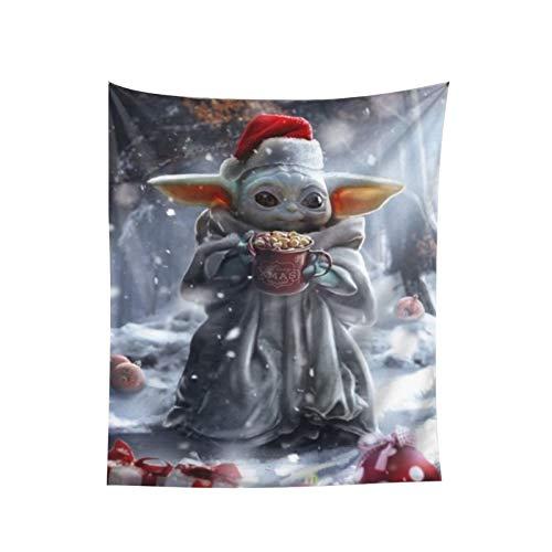 Yoda - Tapiz para colgar en la pared, decoración del hogar, telón de fondo de TV, sala de estar, dormitorio, dormitorio, cama, tapiz de 152 x 152 cm