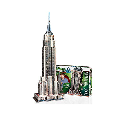 Wrebbit-el Empire State Puzzle 3D, Multicolor (EMP)
