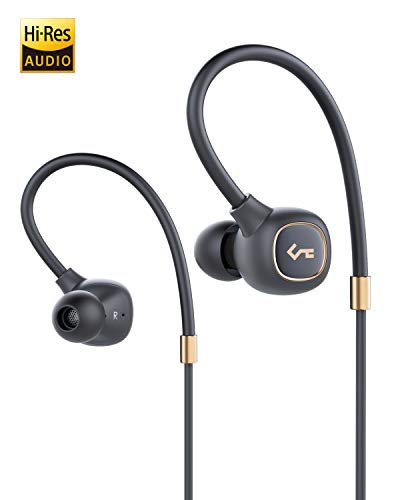 AUKEY Wireless Headphones, Key Series B80 Bluetooth 5 Earbuds with Hybrid Driver System, High Fidelity Sound, aptX Low Latency, IPX6 Water-Resistance, USB-C Charging, 8h Playtime and in-line Mic