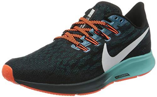Nike W NK Air Zoom Pegasus 36 HKNE, Scarpe da Corsa Donna, Black/Mtlc Summit Wht/Midnight Turq/Aurora Green/Hyper Crimson, 39 EU