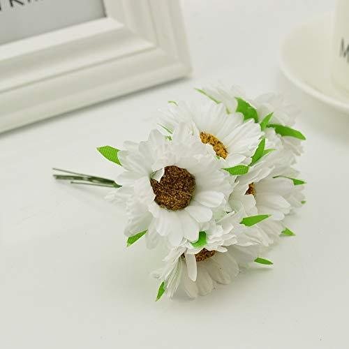 QWERTYU 6 stks handgemaakte gerbera mode thuis tuin bruid diy krans materiaal bruiloft banket decoratie kunstbloem schaar kroon LIFUQIANGME