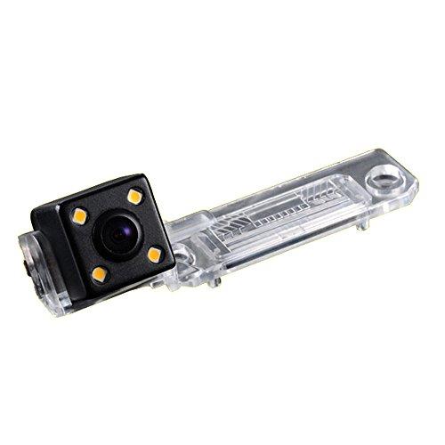 Kalakus 420TVL CMOS Caméra de Recul Voiture en Couleur Kit Caméra vue arrière de voiture Imperméable IP67 avec large Vision Nocturne pour VW Caddy Passat B5 B6 Transporter T5 Touran Jetta