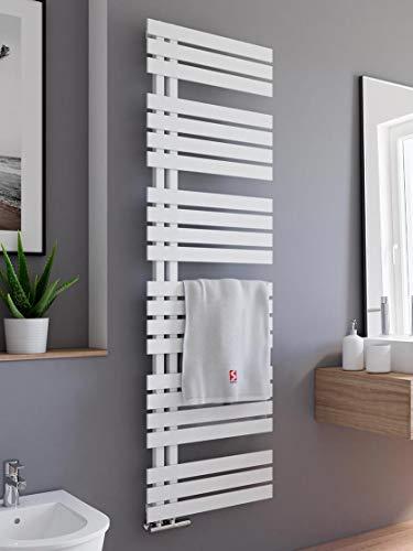Schulte H02416950 04 Badheizkörper Breda, 169 x 50 cm, 718 Watt Leistung, Anschluss unten, alpinweiß, Heizkörper mit Handtuchhalter-Funktion