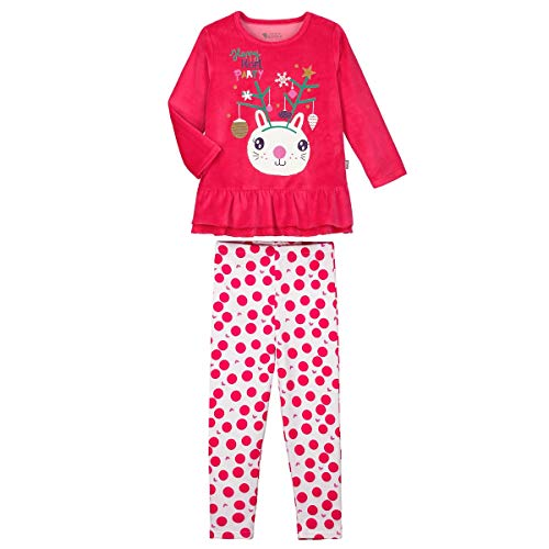 Petit Béguin - Pyjama fille manches longues Happy Noël - Taille - 10 ans