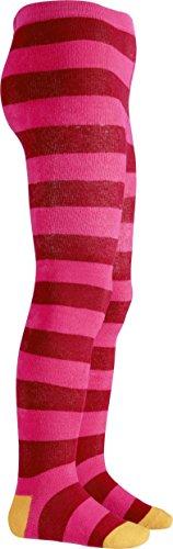 Playshoes Mädchen Thermo Block-Ringel Strumpfhose, Mehrfarbig (pink 18), 122 (Herstellergröße: 122/128)
