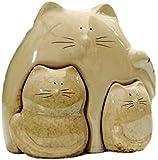 DQQQ Coleccionables Porcelana Mamá y bebé Gato Estatuilla Decoración para el hogar Cerámica Gatito Miniatura Regalo Artesanía Adorno Accesorio