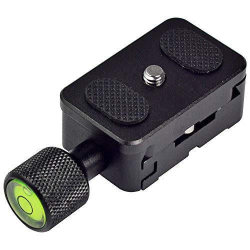 MENGS K30 Kamera Einstellbare Klemme + Schnellwechselplatte für 1/4'' Schraube mit massivem Aluminium Kompatibel mit Akai Standard-Schnittstelle, wie Arca/Kirk/Wimberley/Benro/RRS etc Muschel