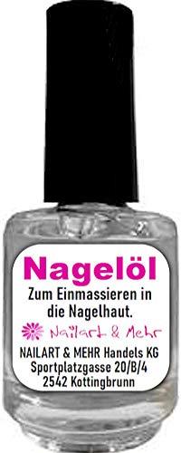 N+M Nagelöl ANANAS in 15ml-Pinselflasche - Zum Einmassieren in die Nagelhaut