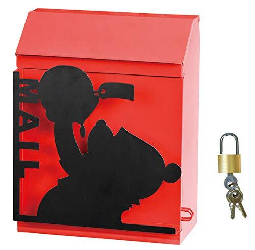 ポスト 郵便受け 置き掛け兼用ポスト ディズニー シルエットポスト プーさん 南京錠 鍵付き デザインポスト
