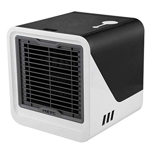 Selomore Portable Air Conditioner Fan,Personal Space Evaporative Air Cooler Rechargeable USB Mini Desk Fan, 3 Speeds, Super Quiet Humidifier Misting Cooling Fan for Home Office Bedroom
