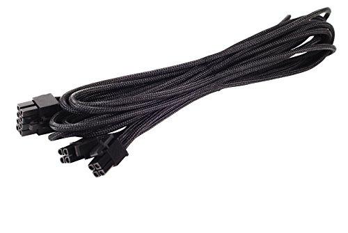 SilverStone SST-PP06B-EPS55 - Netzteilkabel 55cm EPS/ATX 8pin(4+4) gesleevt, schwarz