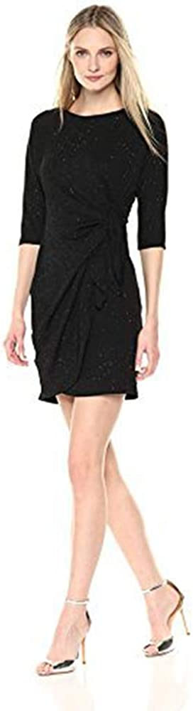 ROBBIE BEE Women's Long Sleeve Sarong Dress