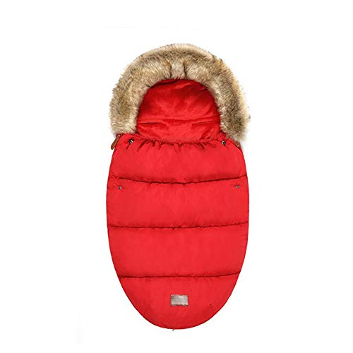 Fantastic Prices! HBIAO Winter Baby Footmuff, Pushchairs Warm Footmuff Sack Thickened Velvet Lined W...