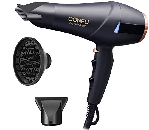 Professional 2300W Hair Dryer With Diffuser Concentrator Set, CONFU Ionic Powerful Salon Hairdryer...