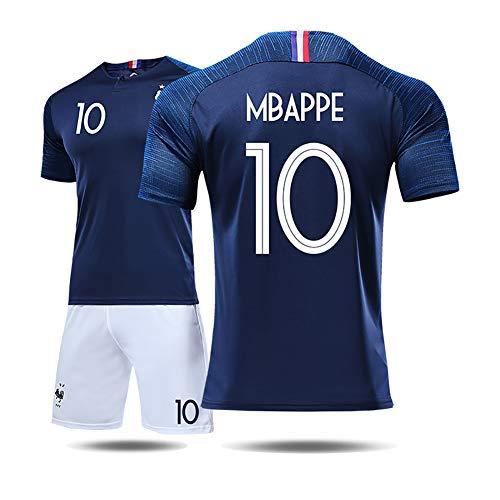 Unbekannt Französisches Trikot Herren- und Damenanzüge Weltmeisterschaft 2018 2 Sterne 10 Mbape 7 Grizzmann-Fußballuniform.-5-XL