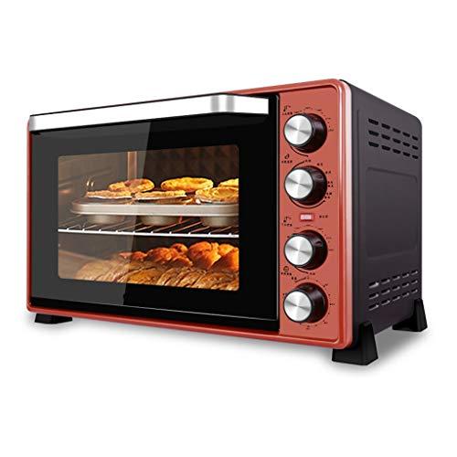 JCOCO Mini four électrique 45L avec contrôle de température de précision 60-250°C et 0-120 min Minutage 2000W air chaud multifonction double couche avec éclairage de four rouge