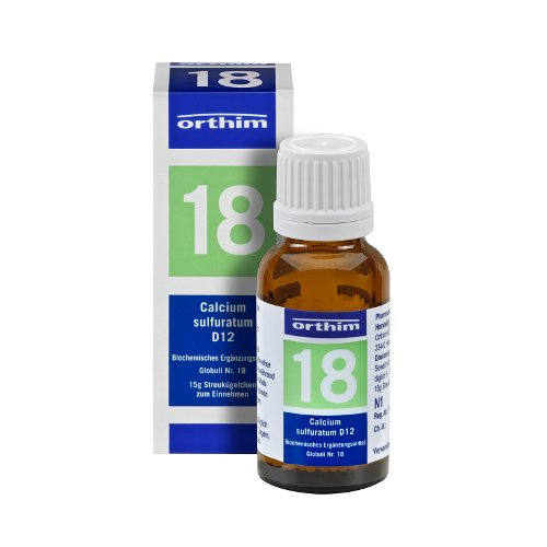 Schuessler Globuli Nr. 18 - Calcium sulfuratum D12 - gluten- und laktosefrei