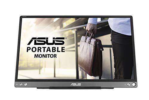 """""""ASUS ZenScreen MB16ACE - Monitor portátil USB de 15.6"""" Full HD (Conectividad híbrida, USB de Tipo C, Antiparpadeo, Luz Azul de Baja Intensidad, Acabado antirreflejos)"""""""