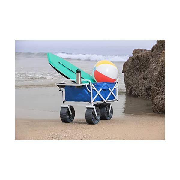 MacSports All Terrain Beach Wagon with Side Table Combo with Straps