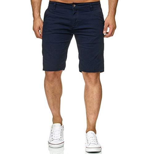 FRAUIT Bermuda Cargo Uomo Pantaloncino Uomini Fitness Bodybuilding Pantaloncini Ragazzo Cotone Lavoro con Tasconi Laterali con Cintura Pantalone Corto Tronchi per la Spiaggia
