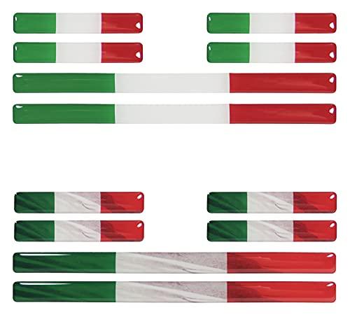 BIKE-label 300122 - Juego de 12 pegatinas de bandera de Italia para coche o moto